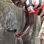 The Water Project: Luyeshe Community, Khausi Spring -  Enjoying The Flowing Water