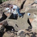 The Water Project: Indulusia Community, Osanya Spring -  Plastering