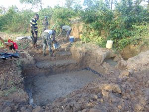 The Water Project:  Laying The Foundation For The Stairs