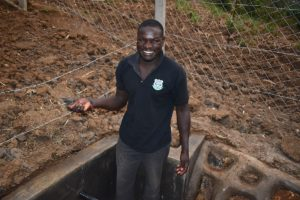 The Water Project:  Wycliffe Osanya Overjoyed Upon Springs Completion