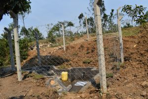 The Water Project:  Complete Fenced Spring With Clean Flowing Water
