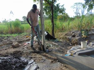 The Water Project:  Erecting The Fencing Poles
