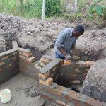 The Water Project: Makhwabuyu Community, Sayia Spring -  Wall Construction