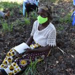 The Water Project: Makhwabuyu Community, Sayia Spring -  An Elderly Lady Listening In