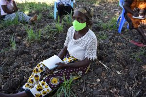 The Water Project:  An Elderly Lady Listening In