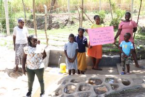 The Water Project:  Director Catherine With Community Members At The Spring