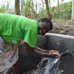 The Water Project: Makhwabuyu Community, Sayia Spring -  Irene Celebrating The Spring
