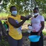 The Water Project: Makhwabuyu Community, Sayia Spring -  Trainer Jemmimah Shows Ten Steps Of Handwashing
