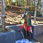 The Water Project: Mukhonje B Community, Peter Yakhama Spring -  Alex Drinking Clean Water