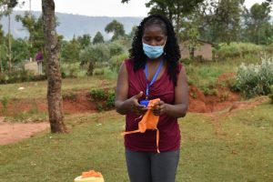 The Water Project:  Christine Shows How To Make A Face Mask
