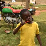 The Water Project: Mukhonje B Community, Peter Yakhama Spring -  Demonstration On Dental Hygiene