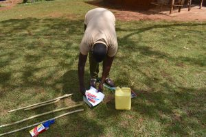 The Water Project:  Preparing Materials For Tippy Tap Construction And Training