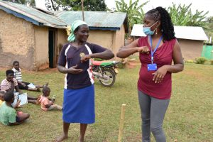 The Water Project:  Trainer Christine Demonstrates Alternative Contactless Greetings