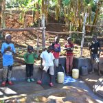 The Water Project: Mukhonje B Community, Peter Yakhama Spring -  Kids Posing At The Spring
