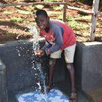 The Water Project: Mukhonje B Community, Peter Yakhama Spring -  Splashing Water In Celebration