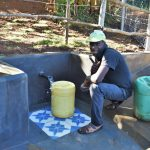 The Water Project: Mukhonje B Community, Peter Yakhama Spring -  Thumbs Up For Clean Flowing Water