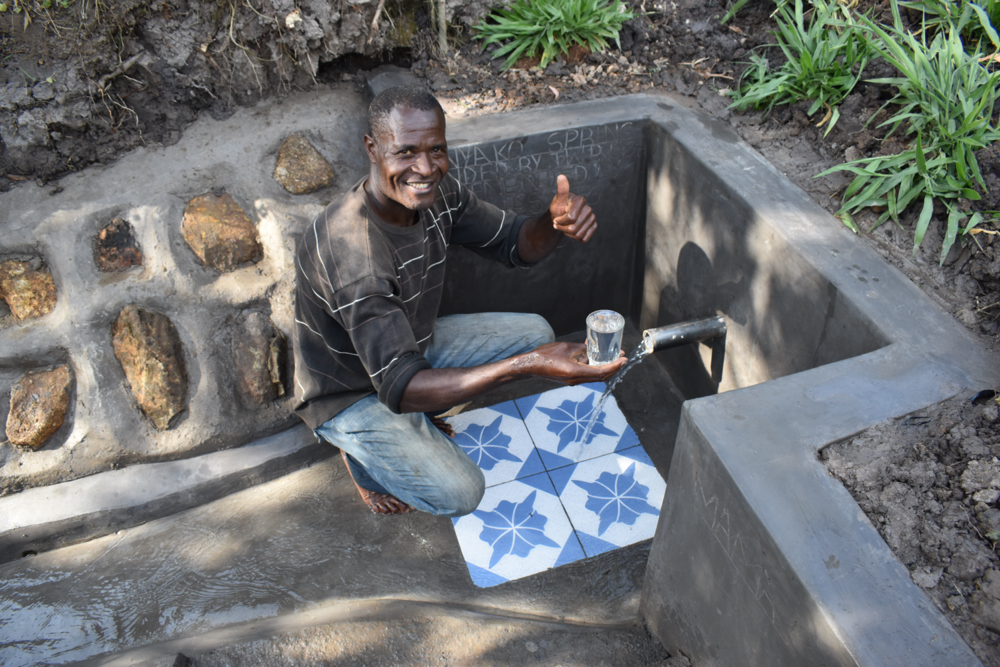 The Water Project : kenya21071-david-panyako-excited-to-access-clean-and-safe-water