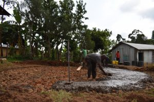 The Water Project:  Pouring The Concrete Foundation