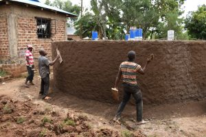 The Water Project:  Exterior Plastering
