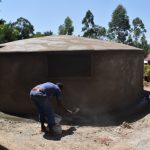 The Water Project: Friends Musiri Secondary School -  Working On Tank Skirting