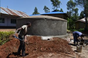 The Water Project:  Site Clearance Around Tank For Easy Access