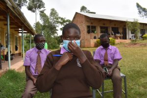 The Water Project:  Adjusting A Mask At Training