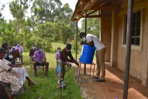 The Water Project:  Handwashing Using A New Station