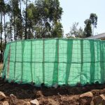 The Water Project: Mwikhupo Primary School -  Sacks Covering Wire