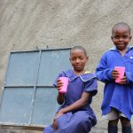 The Water Project: Mwikhupo Primary School -  Enjoying Clean Water