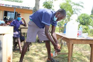 The Water Project:  Handwashing With Leaky Tin