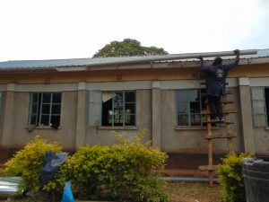 The Water Project:  Affixing The Gutters