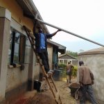 The Water Project: Mwikhupo Primary School -  Attaching The Gutters