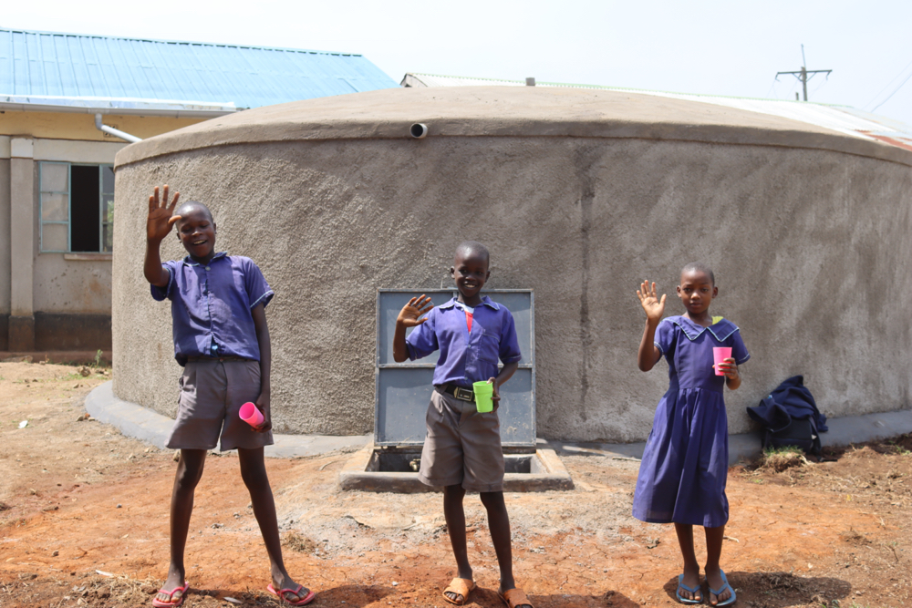 The Water Project : kenya21226-celebrating-at-the-water-point