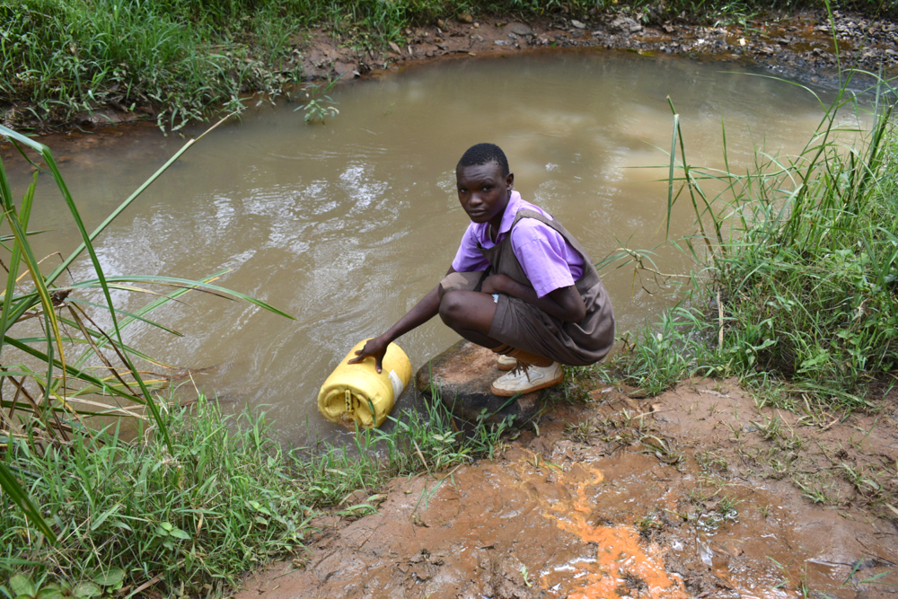 The Water Project : kenya21236-collecting-water-3