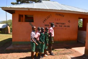 The Water Project:  Boys In Line At The Latrines