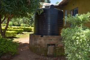 The Water Project:  Small Rain Tank At School