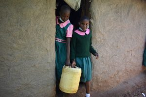 The Water Project:  Students Leaving Home With Water