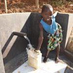 The Water Project: Maraba Community, Shisia Spring -  Collecting Clean Water