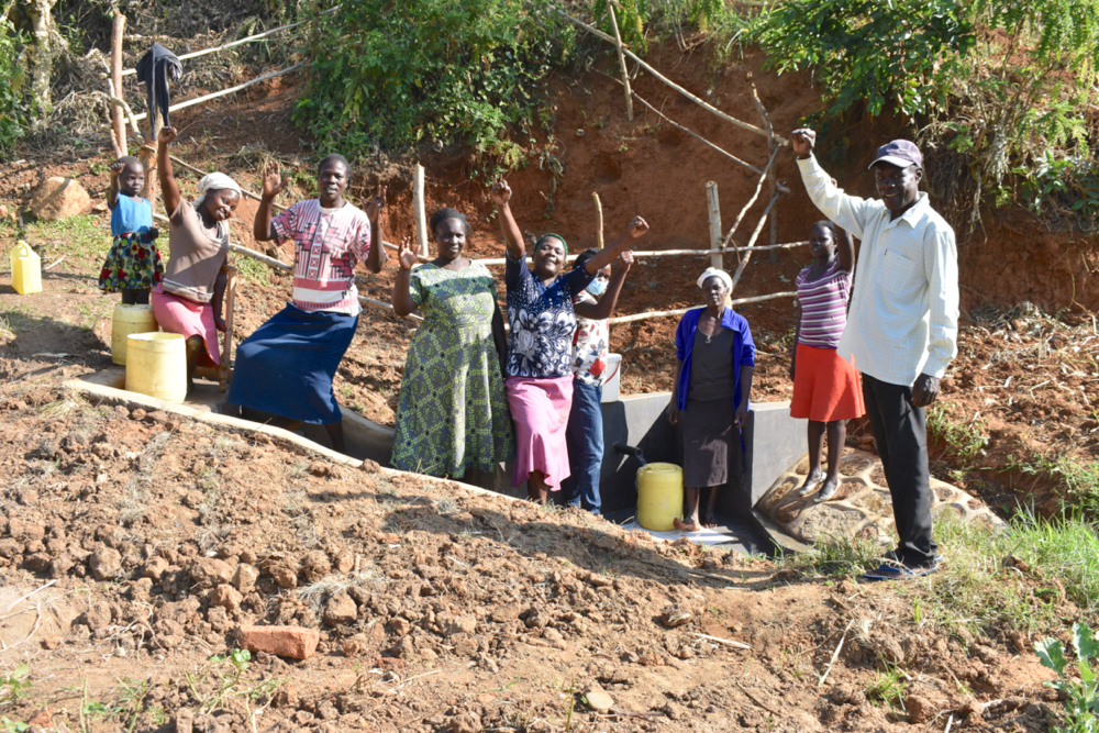 The Water Project : kenya21300-community-celebrating-their-efforts