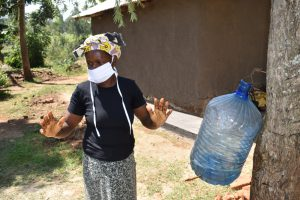 The Water Project:  Demonstrating Air Drying Afer Handwashing