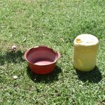 The Water Project: Emusaka Community, Manasses Spring -  Water Storage Containers