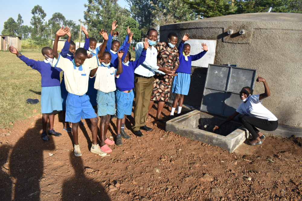 The Water Project : kenya21351-celebrating-the-rain-tank