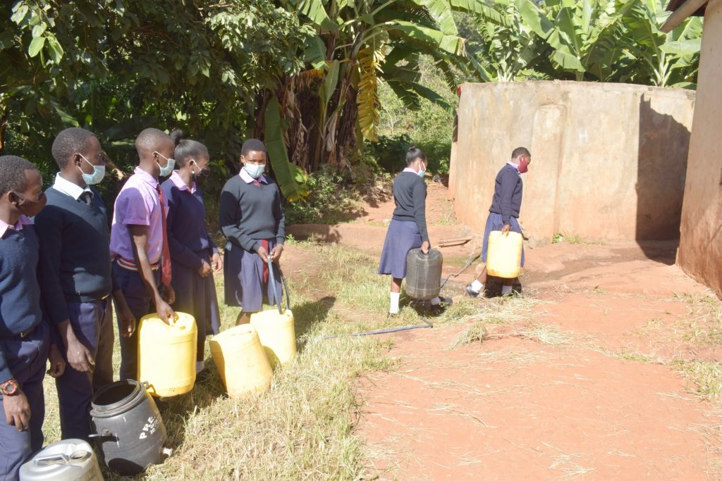 The Water Project : kenya21467-students-carrying-water