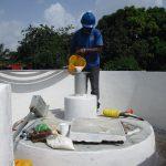 The Water Project: Lungi, New London, Saint Dominic's Catholic Church -  Chlorination