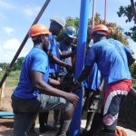 The Water Project: Lungi, New London, Saint Dominic's Catholic Church -  Drilling