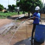 The Water Project: Lungi, New London, Saint Dominic's Catholic Church -  Yield Test