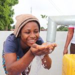 The Water Project: Lungi, New London, Saint Dominic's Catholic Church -  Young Girl Celebrates At The Well