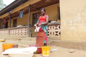 The Water Project:  Woman Laundering
