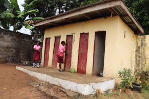 The Water Project:  Students Waiting To Use Latrine