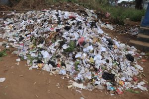 The Water Project:  Garbage Pile In School Compound